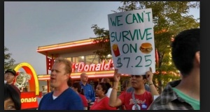 McDonald's protest in Arkansas